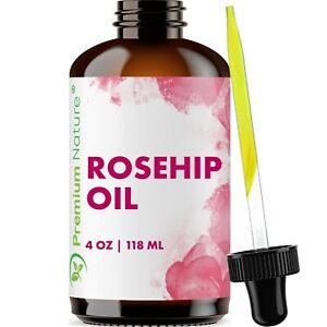 Organic-Rosehip-Oil-4-oz-Skin-Care-Moisturizer-Scar-Removal-amp-Facial-Acne
