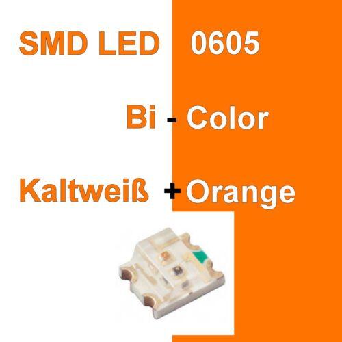 1//10//20 Stück SMD LED 0605 Bi-Color Kaltweiß//Orange Duo LED Bicolor C3340