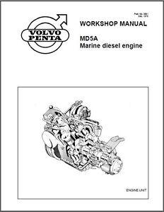 volvo penta md5a marine diesel engine service manual on a cd ebay rh ebay com volvo penta repair manual pdf volvo penta service manual 2003