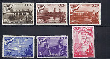 RUSSIA 1947 MOSCOW-VOLGA CANAL (Scott 1147-52) VF MNH