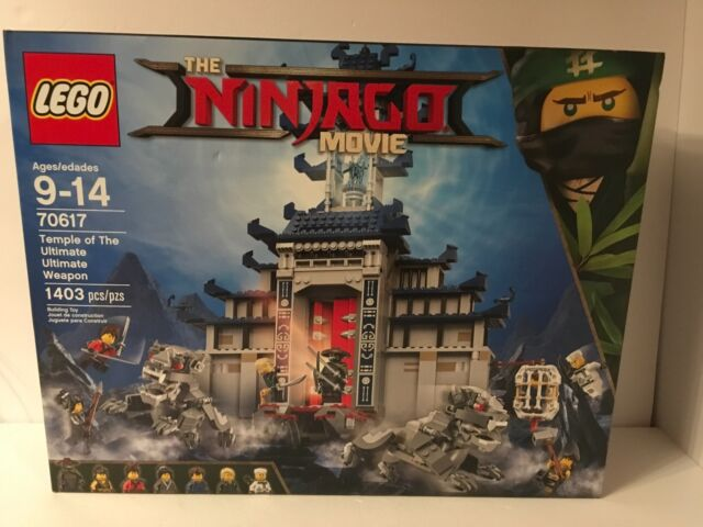 LEGO Ninjago Movie Temple of The Ultimate Ultimate Weapon 70617 New Sealed