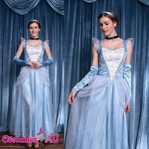 Womens-Princess-Cinderella-Costume-Book-Week-Halloween-Fancy-Dress-Party-Outfit