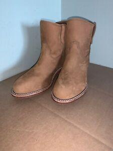 Neuf-Red-Wing-Shoes-Inez-Femmes-Cuir-a-Talon-Botte-Miel-9B-Neuf
