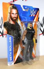 WWE - Seth Rollins - Mattel Basics - Series 44 - wrestling figure