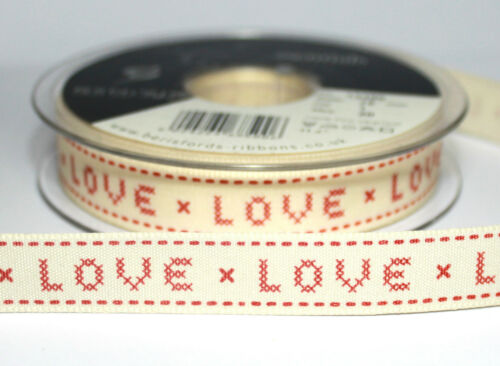 1m Berisfords 15mm Wide Shabby Ribbon Fr Card Making Sewing Craft Choice Designs