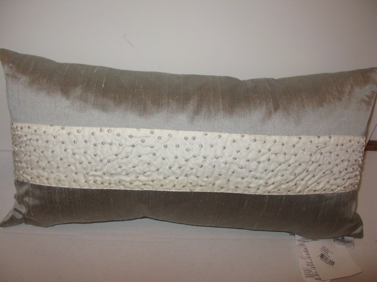 Waterford TRAMORE rectangle Decorative Pillow Platinum NWT