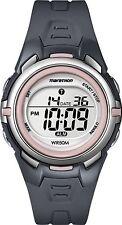 Ladies Timex Marathon Indiglo Digital Alarm Gray Rubber Sports Watch T5K360