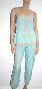 Marjolaine Pyjama 2p. 76% Coton & Soie Tailles Xs A 4xl Couleur Vert 'porcelaine