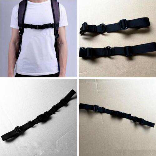 Verstellbare Brustgurt for Schulranzen Rucksack mit Schieber Nylon Gürtel Neu^