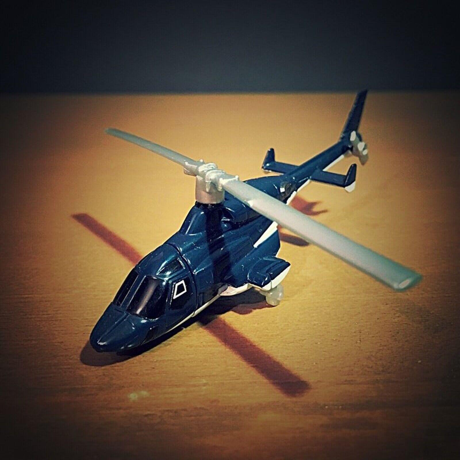 Hot Wheels Japonés Helicóptero Airwolf Plateado y Negro CW40 Mini Coche Raro