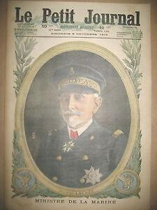 WW1-AMIRAL-LACAZE-MINISTRE-DE-LA-MARINE-TOUSSAINT-AU-FRONT-LE-PETIT-JOURNAL-1916
