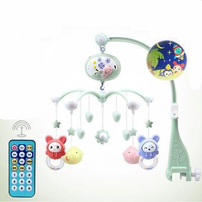 Musik Mobile Spieluhr mit Deckenprojektor Schlafmusik Babybett Fernbedienung Toy