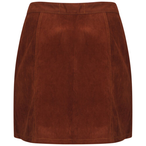 DeMina Ladies Suede effect A-Line Skirt  6 to 18 Suedette