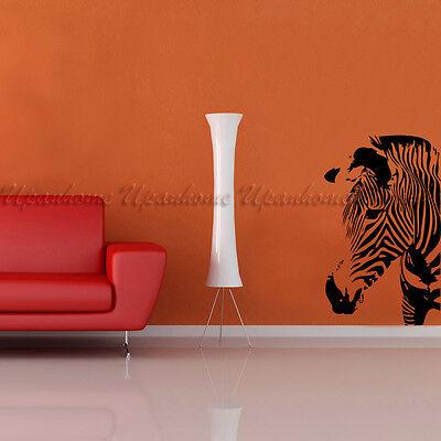 Animal Zebra Head Abstract Art Vinyl Wall Sticker Home Decor Decal Mural DIY
