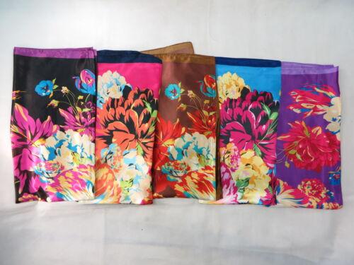 Lot de 10 gros Boho Floral 39 in satin carré écharpe Wrap Châle * US Vendeur environ 99.06 cm