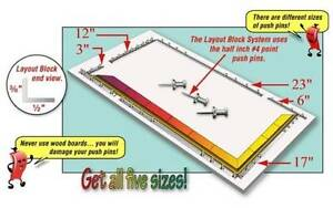 Morton LB01 Layout Block System 6-inch + Pins