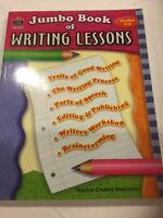 Jumbo Book Of Writing Lessons By Teacher Created Resources Staff (2004, Paperba…