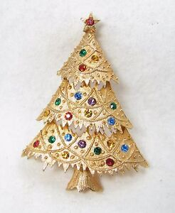 ade0cc57e Image is loading Vintage-JJ-Signed-Fruit-Salad-Rhinestone-Holiday-Christmas-