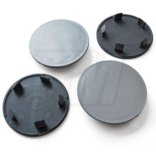 4x COPRIMOZZO piatta COPERCHIO MOZZO 70mm//58mm radnabende Cerchi Coperchio In Grigio
