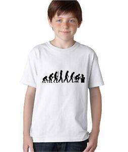 Kids T Shirt Evolution Of Geek Funny Nerd Computer Science Gamer