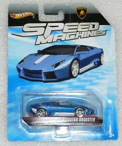 New Hot Wheels Speed Machines Lamborghini Reventon Roadster Blue