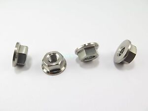 Titanium-Ti-Hex-Flange-M5-M6-M8-M10-Nut-for-Bike-Autocycle-Car-Boat-Grade-5