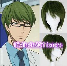 Short Straight Dark Green Cosplay Wig Kuroko No Basketball Midorima Shintaro Wig