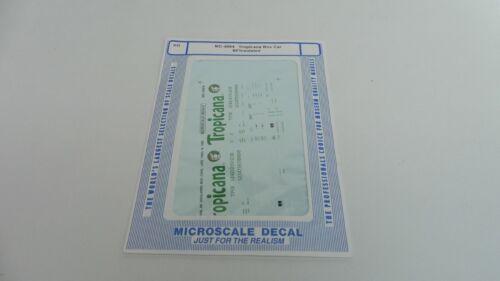 Microscale Decal MC-4064 Tropicana Box Car 60/' Insulated Spur H0