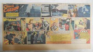 7.5 x 15 in Size Chuck Carson Hero Car Dealer Chrysler Plymouth Car Ad 1940s