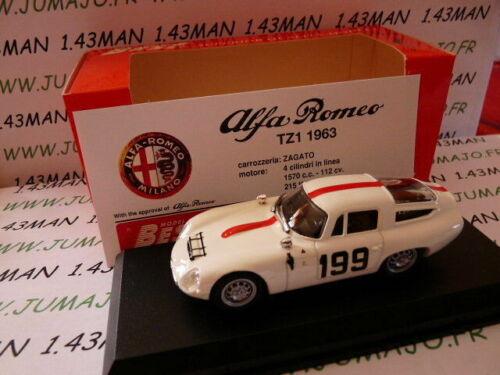 BES5H voiture1//43 BEST ALFA ROMEO TZ1 Monza 1964 blanche #199
