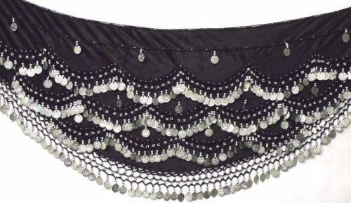 Belly Dance Hip Cintura Sciarpe Sciarpa Danza Costume Coin cinture si adatta M Fino A XXL