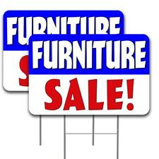 Furniture Sale 2 Pack Double Sided Yard Sign 16 X 24 With Metal Stakes Made I