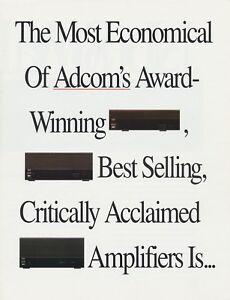 adcom gfa 535 ii original power amplifier brochure 1991 ebay rh ebay com Adcom GFA -555 II adcom gfa-535 ii service manual