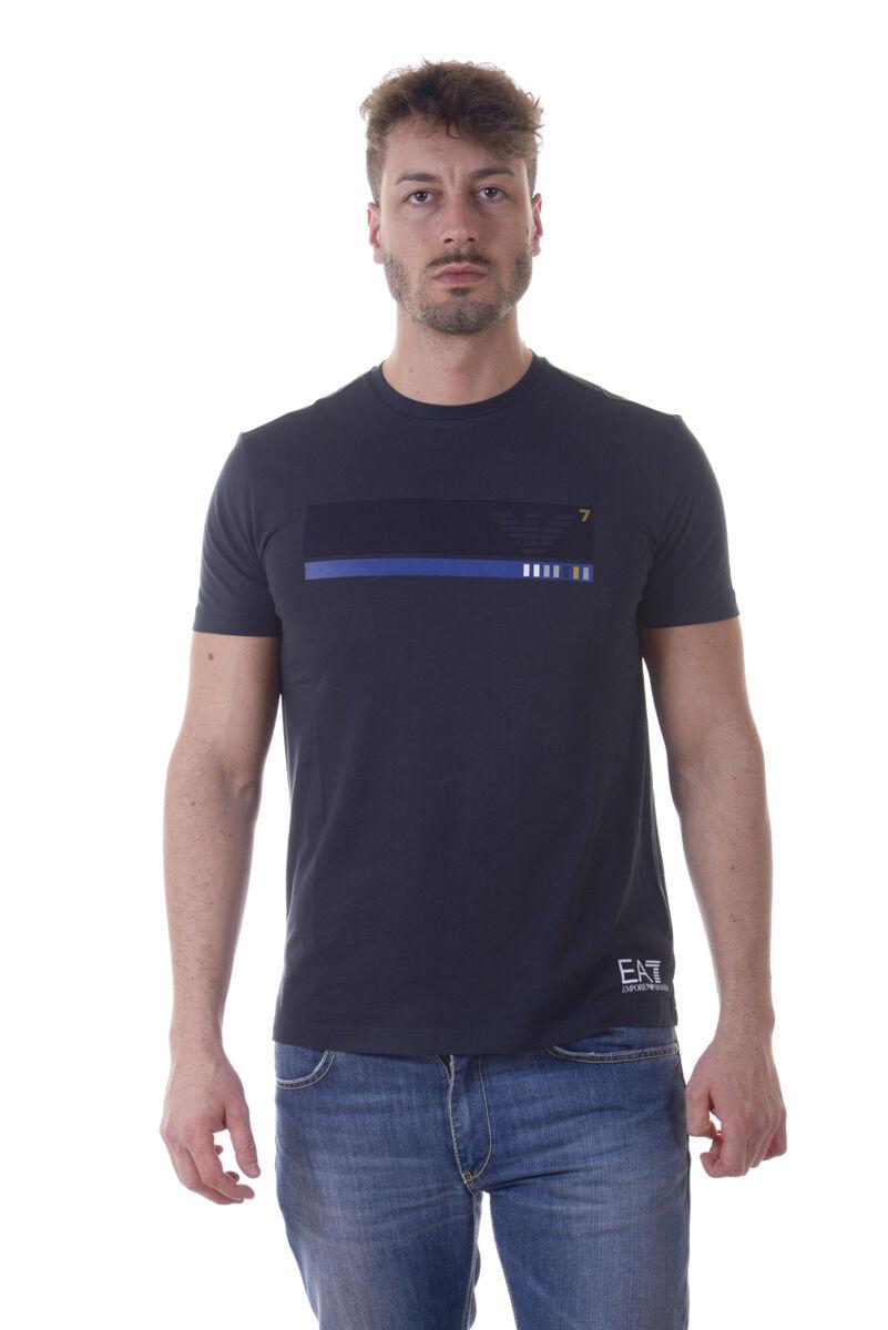 Emporio Armani EA7 T-Shirt Sweatshirt Sz. S Man Blaus 3YPTE2PJ30Z-1578 PUT OFFER