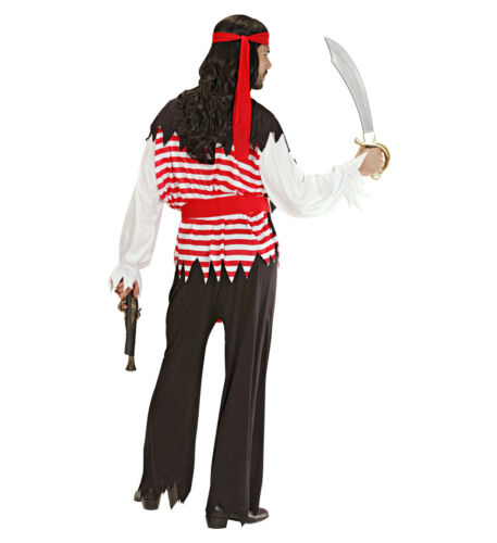 HERREN PIRATENKOSTÜM Karneval Piraten Seeräuber Karibik Männer Kostüm Party 3917