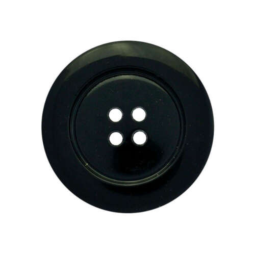 BLACK LARGE CLOWN BUTTON 4 HOLES ITALIAN 51mm