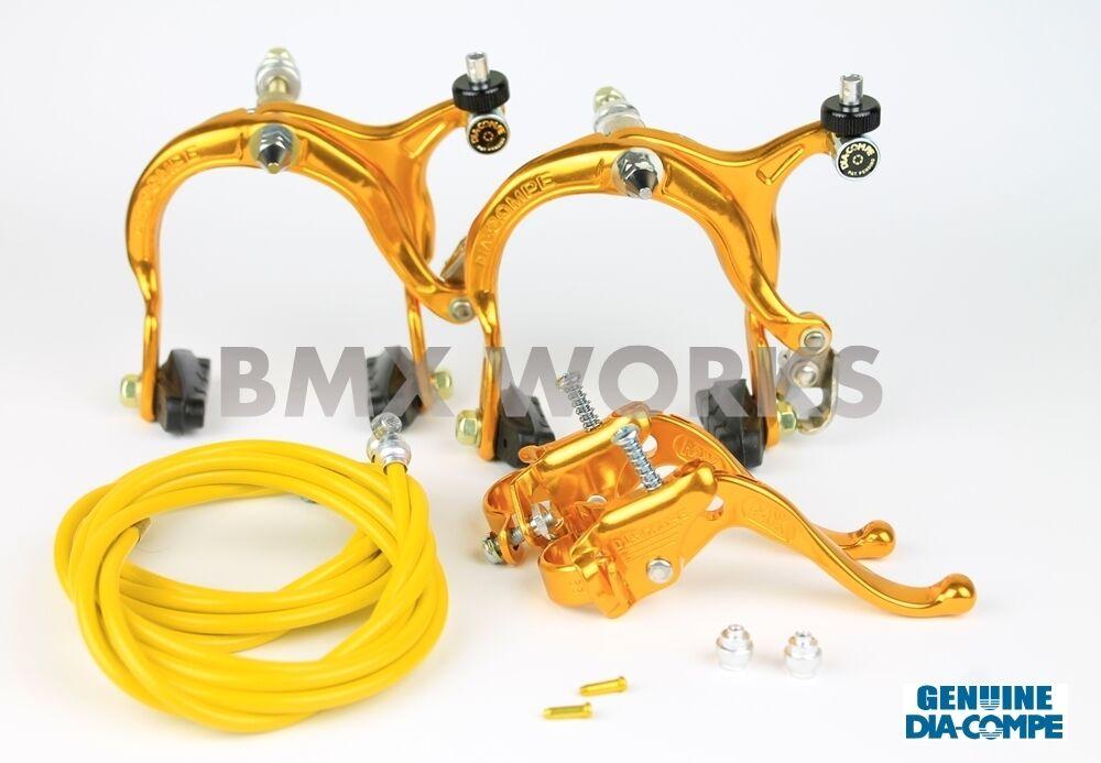 Dia-Compe MX883 - MX123 gold Brake Set - Old School  BMX Style Brakes  discount sales