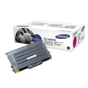 original-Samsung-Toner-CLP-500D5M-Magenta-fuer-SAMSUNG-CLP-500-550-510-neu-D