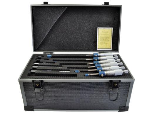 Dasqua 6 Pc Outside Micrometer Set 0 150 mm x 0.01 Range Metric Graduation.