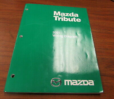 2001 Mazda Tribute Electrical Wiring Diagram Manual | eBay