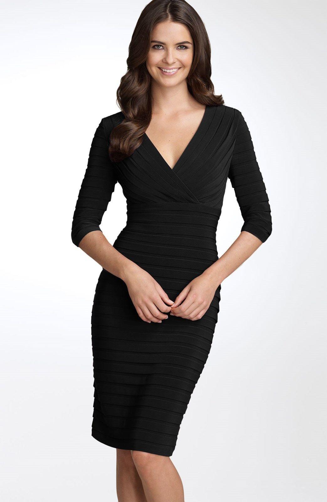 Adrianna Papell Pleated Jersey Sheath Dress ( Size 10P)