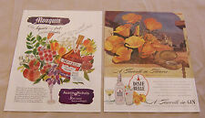 2 Page Vintage Magazine Ad Mouquin Apricot Brandy & Dixie Belle Gin California
