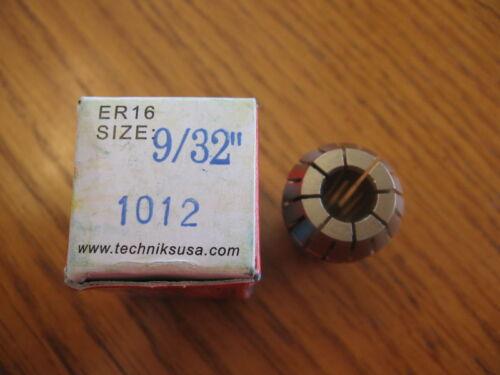 "NEW Techniks ER16 spring collet 9//32/"" 1012 SYIC-04216"