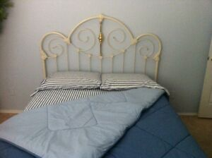 brass headboard queen. Image Is Loading Elliott-039-s-Design-Queen-Cottage-Antique-White- Brass Headboard Queen 7