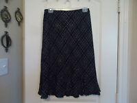 Allison Taylor Sz 6 Skirt Black Lavender (white) Lined