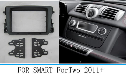 Car Stereo Radio Fascia Panel Kit Frame For Mercedes Benz Smart Fortwo 2011-2017