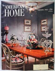 Details about THE AMERICAN HOME MAGAZINE SEPTEMBER 1953 HOUSE INTERIOR  DECORATING GARDENING
