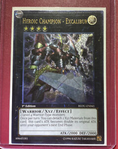 1x Heroic Champion Excalibur REDU-EN041 1st Edition NM Ghost Rare YuGiOh