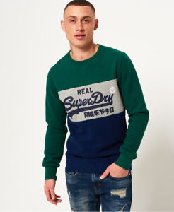 Panel Mens Slam Green Dunk Logo Superdry Vintage Sweatshirt New RBIqdB