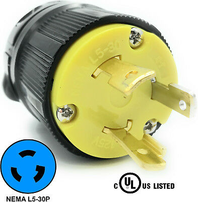 NEMA L5-20R 20A 125V Locking Female Receptacle Replacement Plug RV 3Prong 20amp